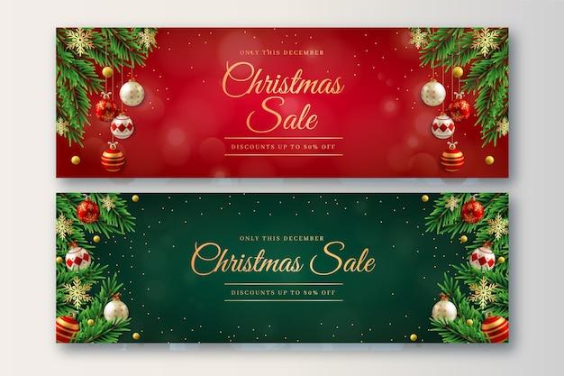 Kerstuitverkoop bannerpakket