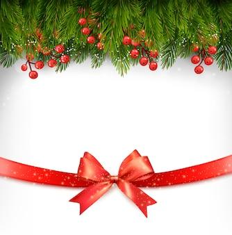 Kerstvakantie decoratie met rode strik