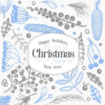 Kerstvakantie en nieuwjaar achtergrond