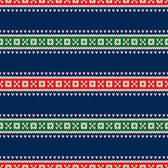 Kerstvakantie gebreide trui naadloze patroon ontwerp. wol gebreide textuur imitatie. Premium Vector