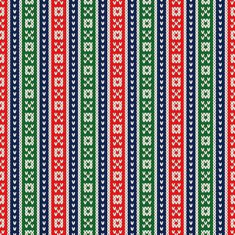 Kerstvakantie gebreide trui naadloze patroon ontwerp wol gebreide textuur imitatie