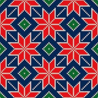 Kerstvakantie gebreide trui patroon ontwerp