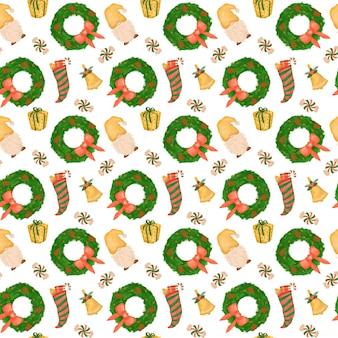 Kerstvakantie herhaal achtergrondpatroon voor kinderen