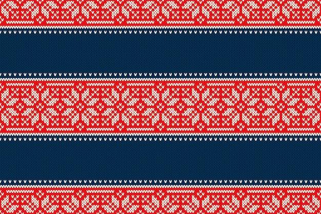 Kerstvakantie naadloos gebreide patroon met sneeuwvlokken