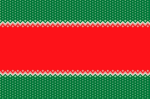Kerstvakantie naadloos pixelpatroon met een plaats voor begroetingstekst of logo