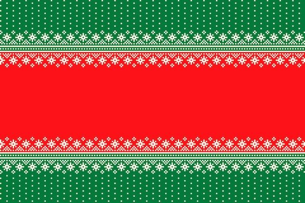 Kerstvakantie naadloze pixelpatroon met naadloze sneeuwvlokken ornament