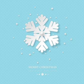 Kerstvakantie ontwerp met papier gesneden sneeuwvlok.