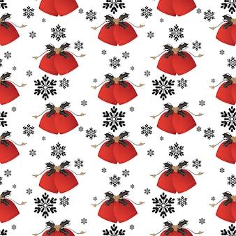 Kerstvakantie seizoen naadloos patroon.