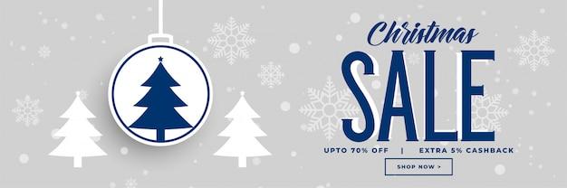 Kerstvakantie verkoop en korting ontwerp van de banner
