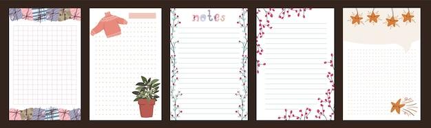 Kerstvakantie viering dagboek kladblok schattige brief scandinavische stijl