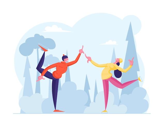 Kerstvakantie vrije tijd op ijsbaan