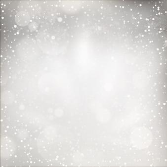 Kerstverlichting op grijze achtergrond.