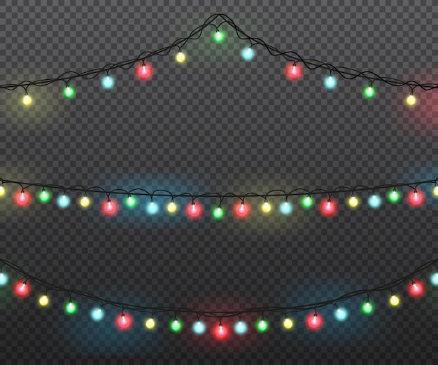 Kerstverlichting set gekleurde slingers