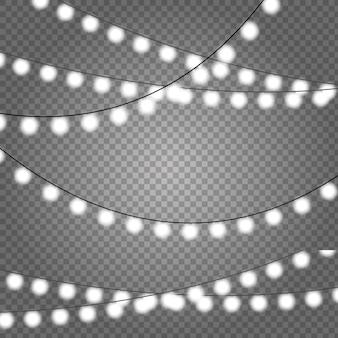Kerstverlichting set. vector nieuwjaar versieren slinger