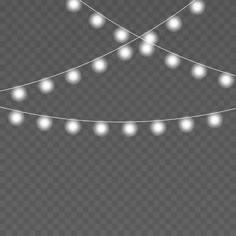 Kerstverlichting vector geïsoleerde snaren voor vakantieviering xmas