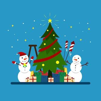Kerstviering illustratie