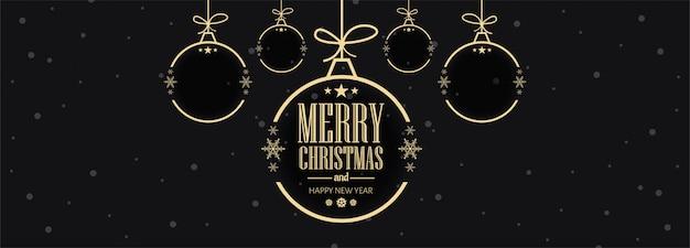 Kerstvieringen kaart banner sjabloon vectorillustratie
