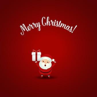 Kerstwenskaart met kerst santa claus vectorillustratie