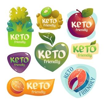 Keto dieet ingrediënten collectie Gratis Vector