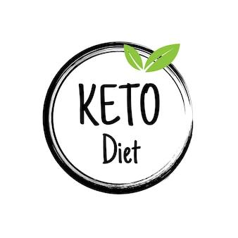 Keto-dieetbanner. keto dieet concept van gezonde lage koolhydraten, vetten, eiwitten. platte vectorillustratie van voedsel - zeevruchten, groenten, kokos, avocado, garnalen, broccoli, olijfolie, vlees.