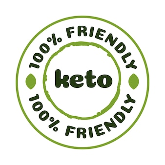Keto vriendelijke badge voeding geïsoleerd op witte achtergrond ketogeen dieet teken keto dieet menu