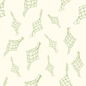 Ketupat naadloos patroon