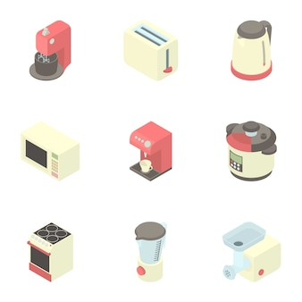 Keuken gadgets set, cartoon stijl