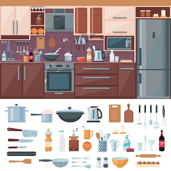 Keuken interieurelementen instellen
