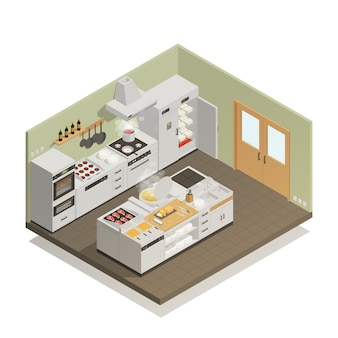 Keuken isometrische samenstelling