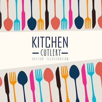 Keuken ontwerp, vectorillustratie.