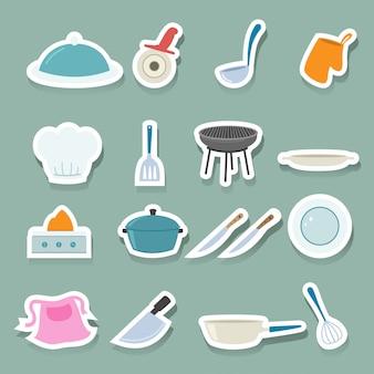 Keuken pictogrammen instellen