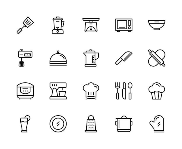 Keuken pictogramserie