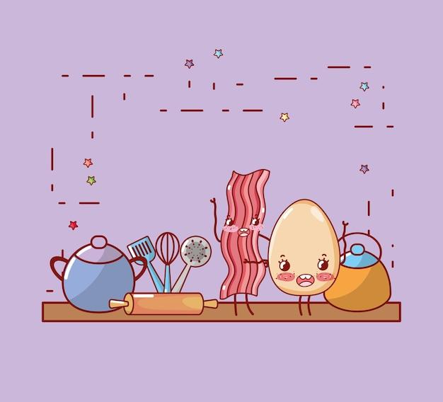 Keuken plank cartoon kawaii cartoon