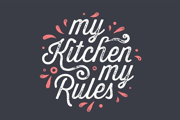Keuken poster. keuken wanddecor, teken, citaat.