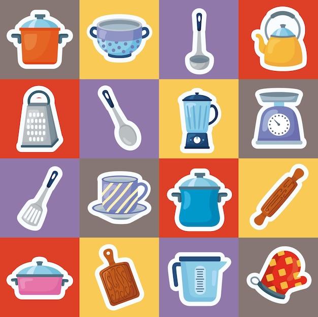 Keuken zestien stickers