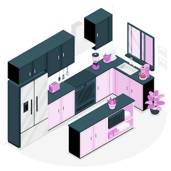 Keukenapparatuur concept illustratie