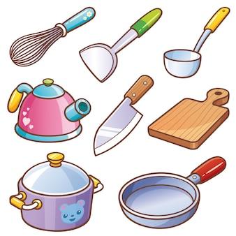 Keukengereedschap ingesteld