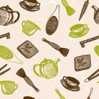 Keukengereedschap patroon ontwerp