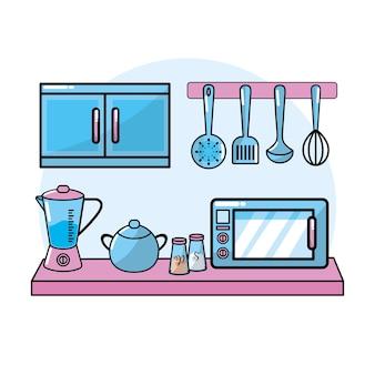 Keukengerei elementen culinaire collectie