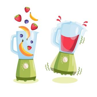 Keukenmachine mixer blender fruit smoothies