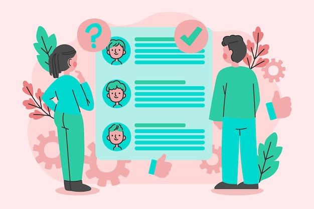 Keuze van het werknemersconcept
