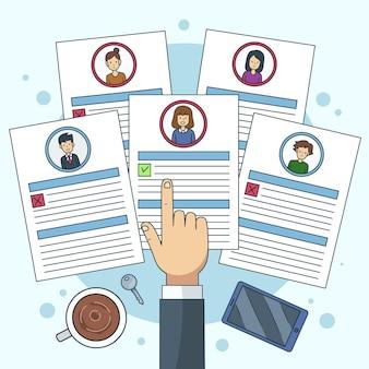 Keuze van werknemer illustratie concept