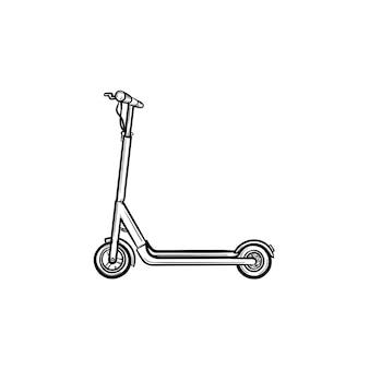 Kick scooter hand getrokken schets doodle pictogram. vector schets illustratie van kick scooter voor print, web, mobiel en infographics geïsoleerd op een witte achtergrond.