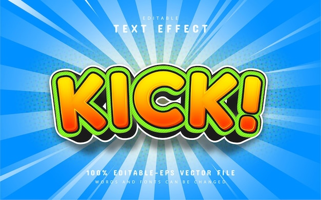 Kick-tekst, teksteffect in cartoonstijl