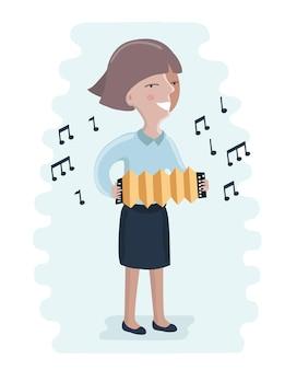 Kid afspelen van muziek