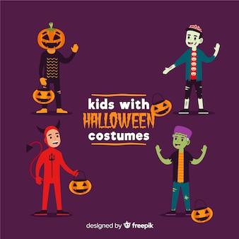 Kid collectie kostuums voor halloween-feest