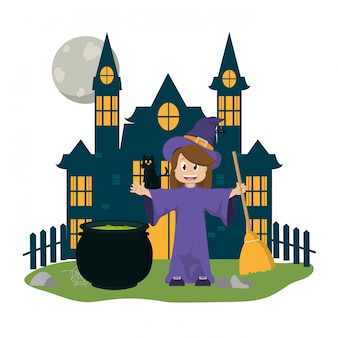 Kid en halloween cartoon