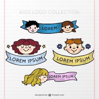 Kid logo collectie met lint