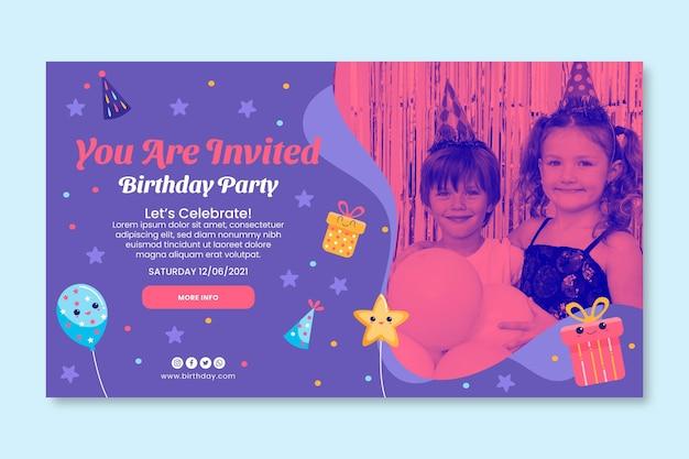 Kid's verjaardag sjabloon voor spandoek