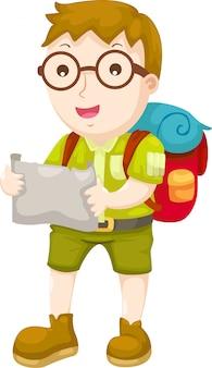 Kid wandelen vector